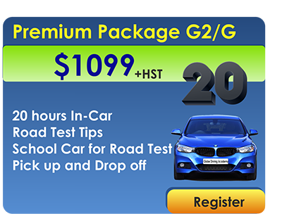 Premium Package 20 In Car Lessons and Car for Road Test